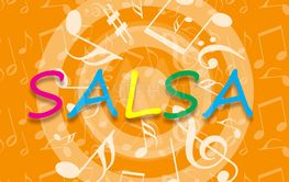 Salsa music background