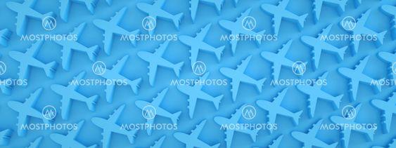 airplane pattern panoramic