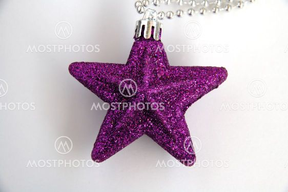 Purple christmas star