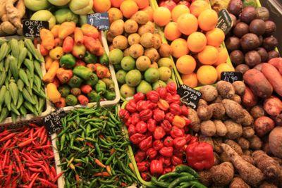 Vegetables on a spanish market