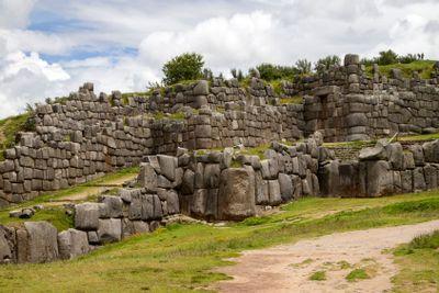 Sacsayhuaman, ancient inca fortress, peru.