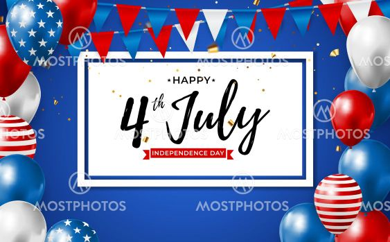 July, 4 Independence Day in USA Background. Can Be Used...