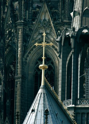 cross on the cathedral of cologne