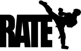 karate text symbol