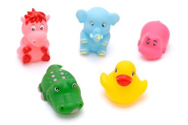Set of rubber toy