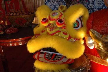 Traditional Chinese lion artwork