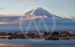 Fuji Mountain  on Lake Kawaguchi in The Morning