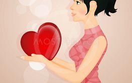 girl gives her heart