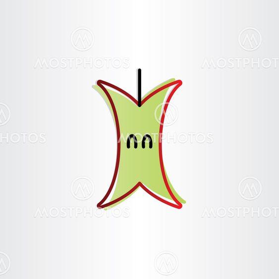 eaten apple icon design