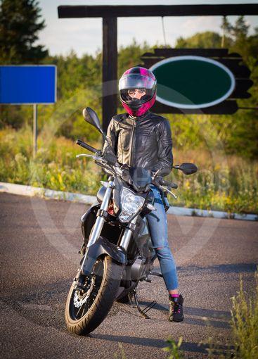 Woman on the bike