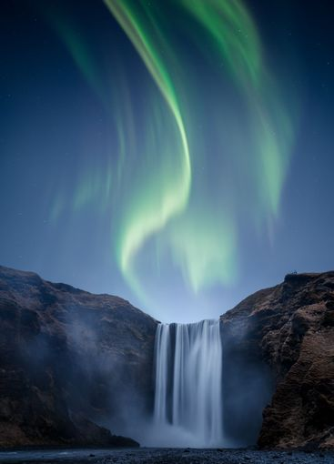 A beautiful Aurora Borealis aka Northern Lights over...