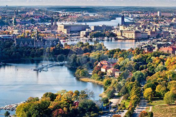 Stockholm, panorama från Kaknästornet