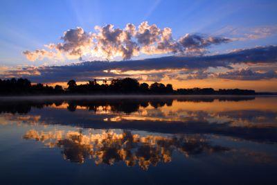 reflection sunrise