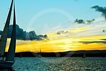 Golden Sunset Silhoette Sails