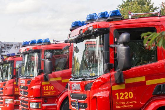 Brandbilar på rad