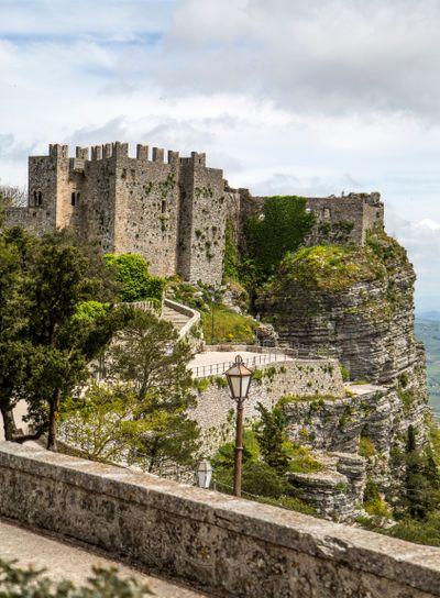 Norman Venus castle at Erice, Sicily
