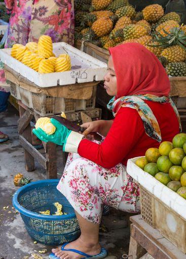 Vegetable marktet Surabaya in Indonesia
