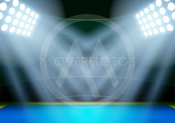 Background for posters night athletics stadium in the...