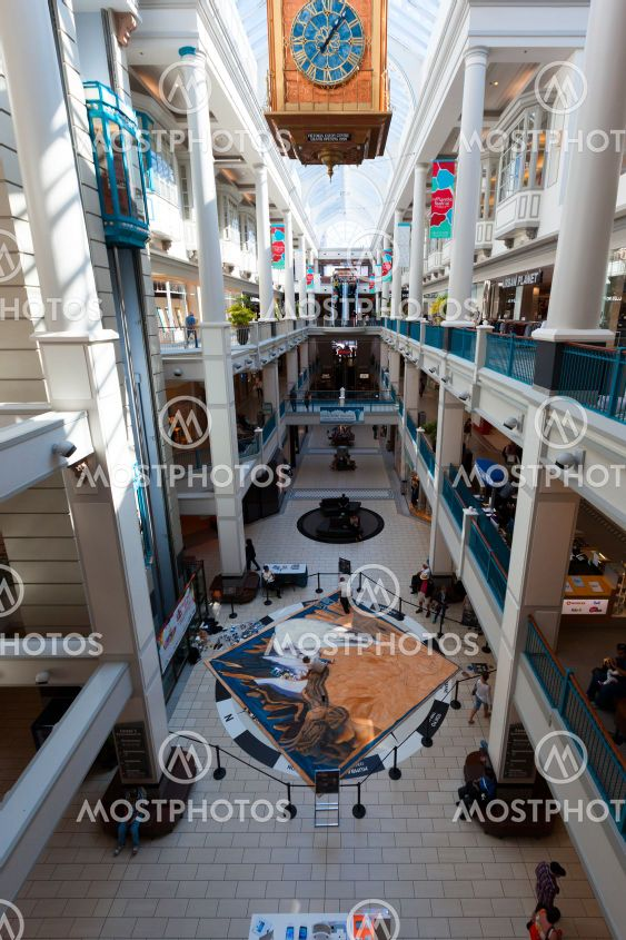 The Bay Center Arcade, shopping galleries in downtown...
