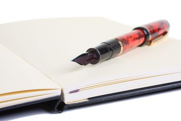 Drawing Pad with Fountain Pen