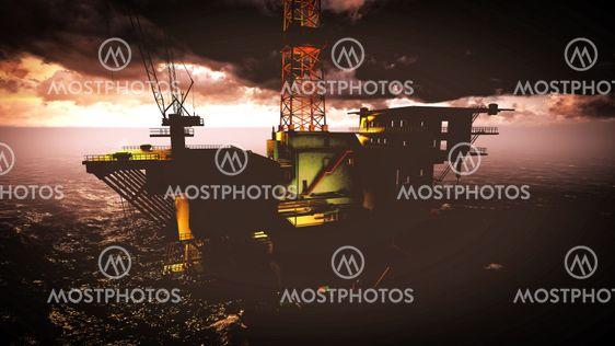 Olie rig platform