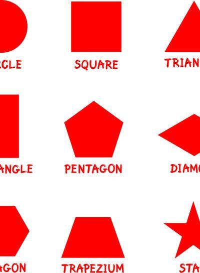 Basic Geometric Shapes with Captions