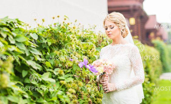 Beautiful bride outdoors