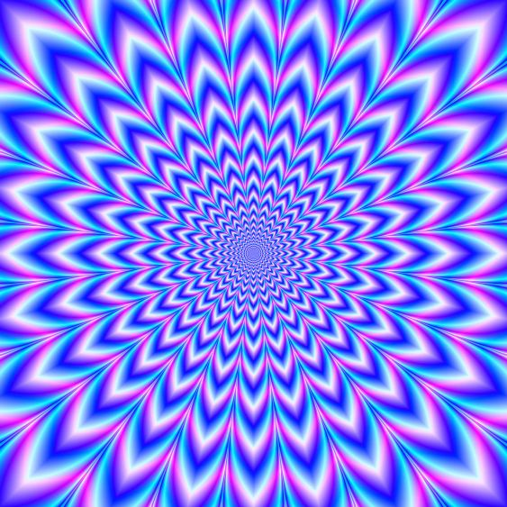24 Pointed Pulse in Blue White Pink and Violet