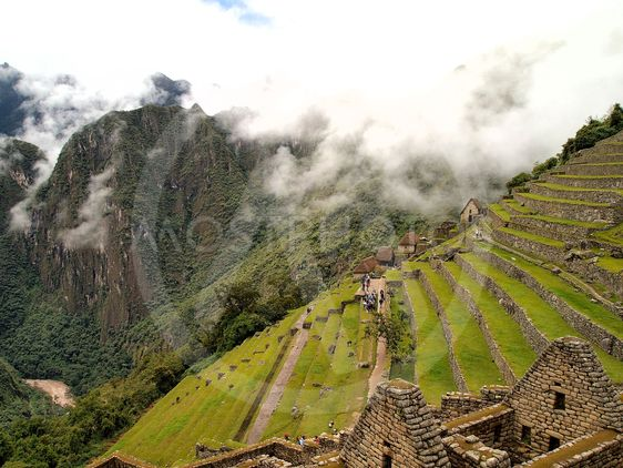 Residential and the field section of Machu Picchu