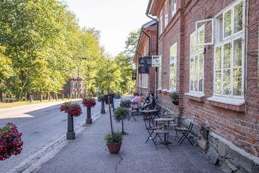 Terrace in the Clock tower building in Fiskars village