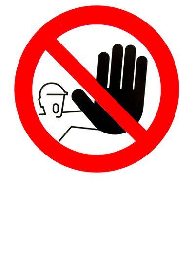 No pass sign