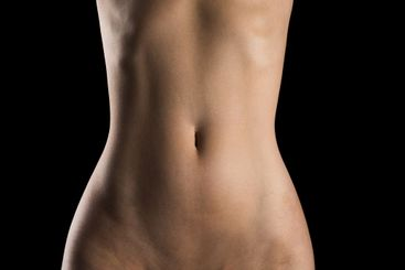 Naked body texture background for banner. Nude female...