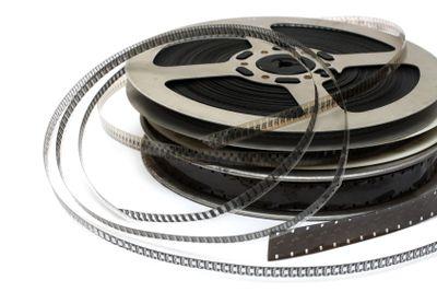 stack of old movie films