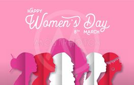 Happy Women's Day diverse culture women head card