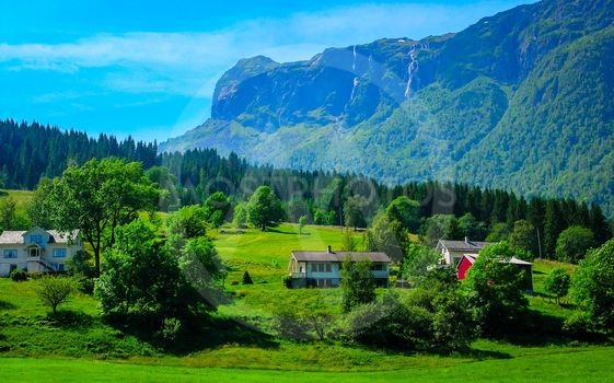 Wonderful countryside colors of Norway