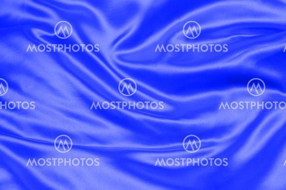 blue crumpled silk fabric