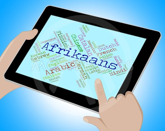 Afrikaans Language Indicates South Africa And Germanic