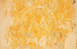 Old Wall With Weathered Yellow Paint Background Texture