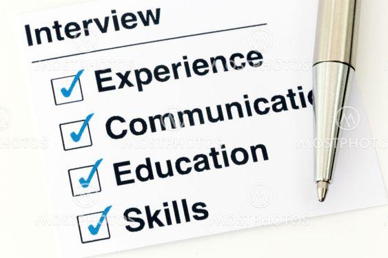 Job interview checklist