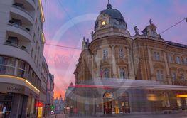 Ljubljana, Slovenia - February 8, 2019: Building of a...
