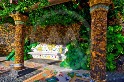 canary islands, la palma, las manchas : plaza la glorieta