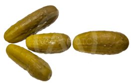 Pickles, laid out in the form of an arrow