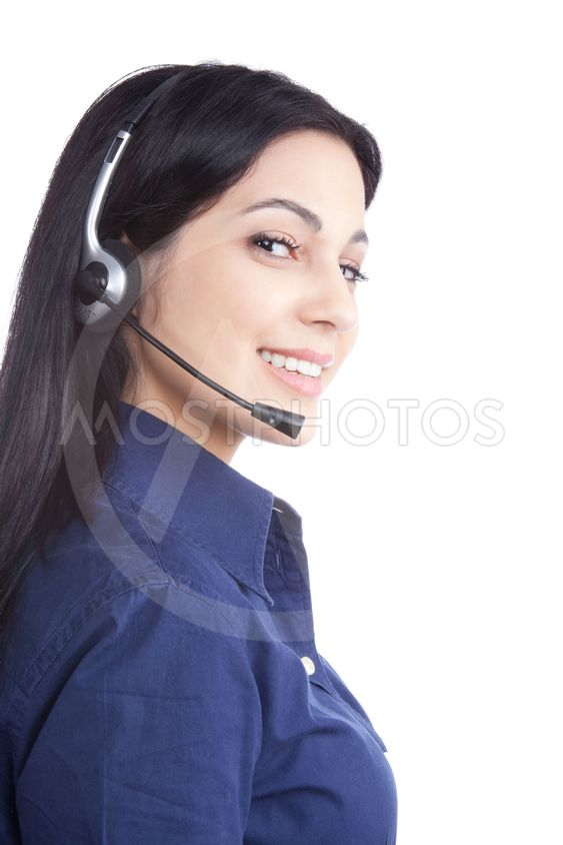 Businesswoman Wearing a Headset