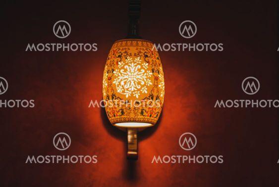 stylish lamp on the wall