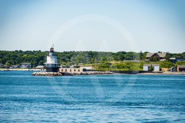 The Bug Light Lighthouse in South Portland, Maine