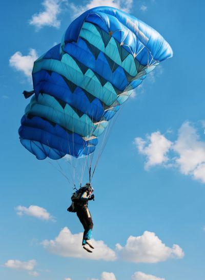 Sky diver and blue sky