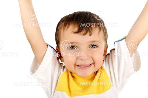 Closeup image of a beautiful happy kid