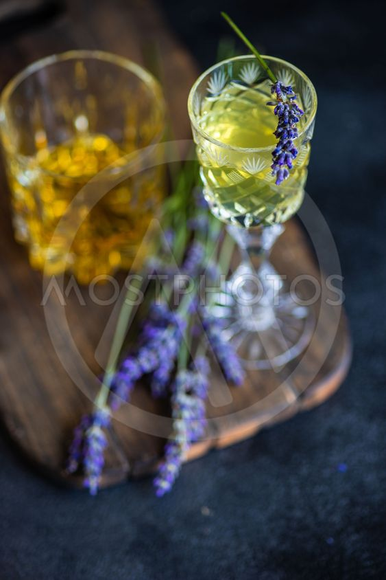 Traditional italian alcoho drink limoncello
