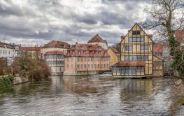 Bamberg at river Regnitz