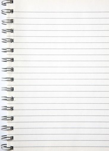 A blank page of an old notebook.